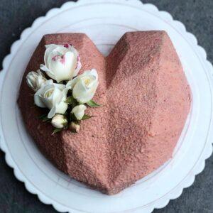 Муссовый  торт (розовый )