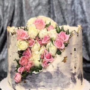 Торт «Розы в мраморе»