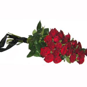 Ритуальный букет из красных роз (26 шт х60см)