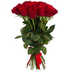 Ритуальный букет из красных роз (20шт х60см)