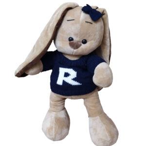 Зайчонок в синем свитере (35 см)