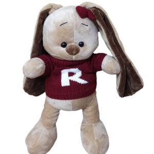 Зайчонок в красном свитере (35 см)