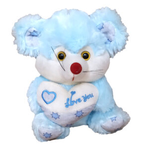 Голубая Мышка с сердечкой (25 см)