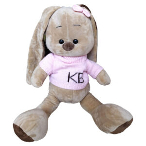 Зайчонок в розовом свитере (50 см)