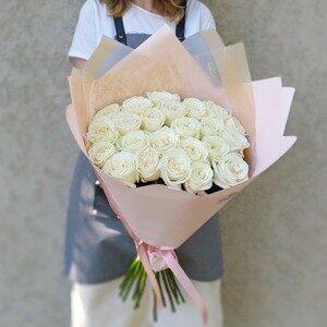Букет из белых роз (21шт х60см)