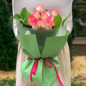 Букет из роз(9шт 60см)
