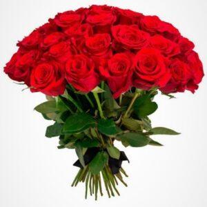 Ритуальный букет из красных роз (30 шт х 60 см) (Copy)